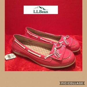 NWT L.L.Bean size 11 pink loafers/boat shoes NICE!